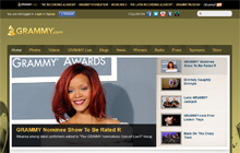 Screenshot de www.grammy.com