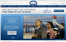 Screenshot de www.whitehouse.gov